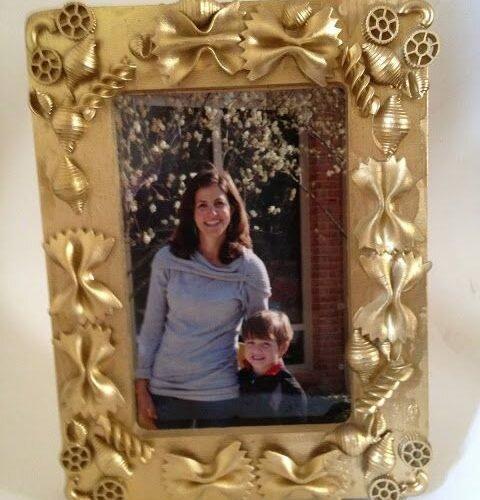 diy macaroni photo frame for kids bespoke craft