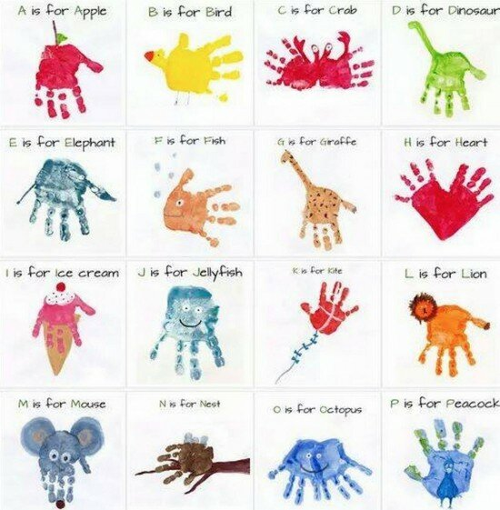 handprint fingerpainting